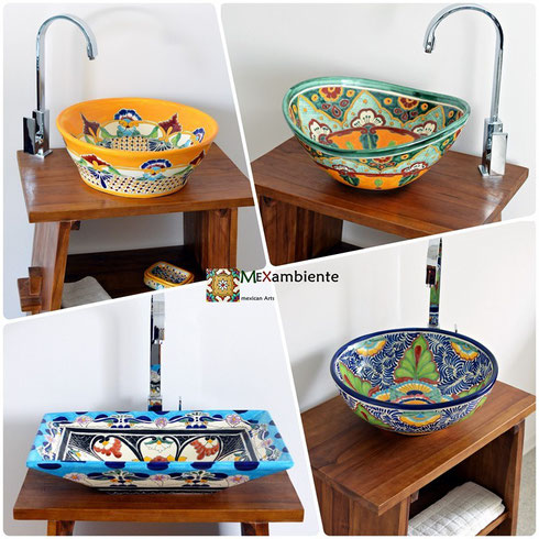 Mexambiente mexican colorful sinks