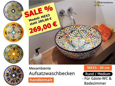 Waschbecken aus Mexiko von Mexambiente im Angebot!
