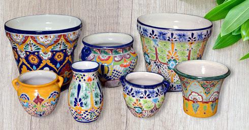 Mexiko Blumentöpfe, Vasen, Übertöpfe