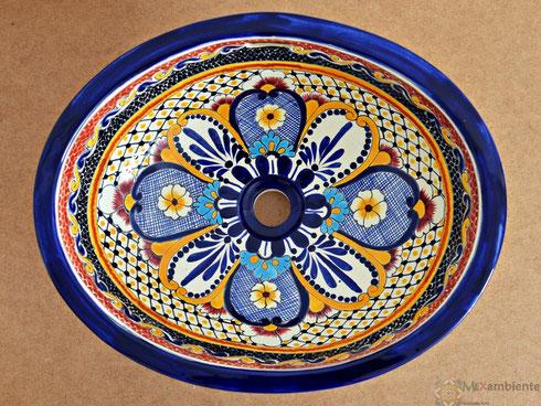 bemaltes waschbecken aus Keramik