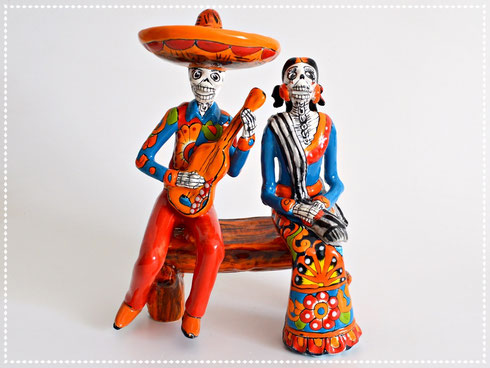 Skelett-Dame La Catrina aus Mexiko Figur Dekoration
