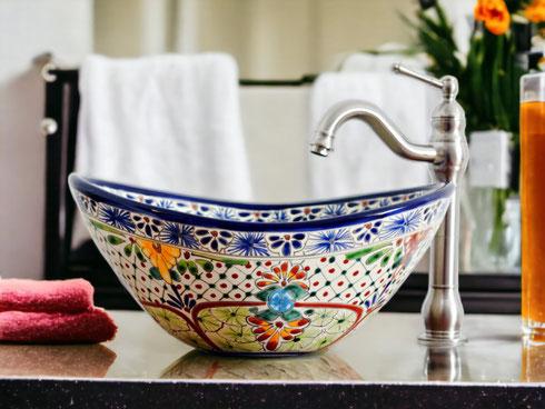 Mexikanische Waschbecken oval