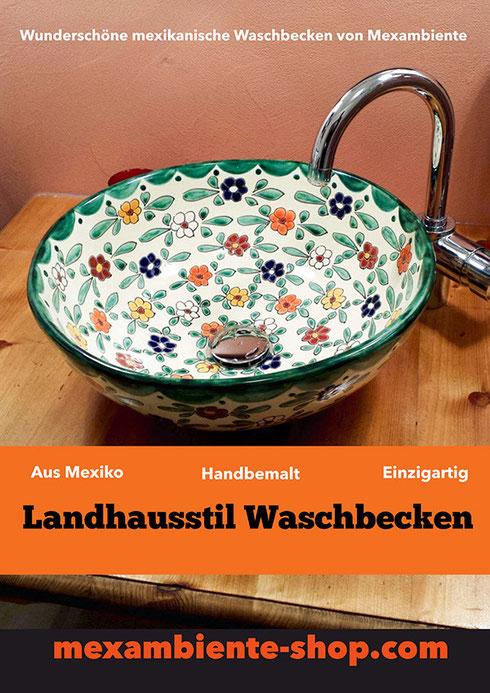 Waschbecken im Landhausstil von Mexambiente