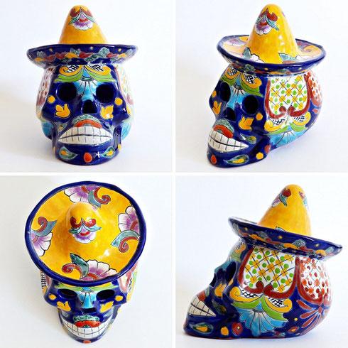 Keramik Totenkopf aus Mexiko