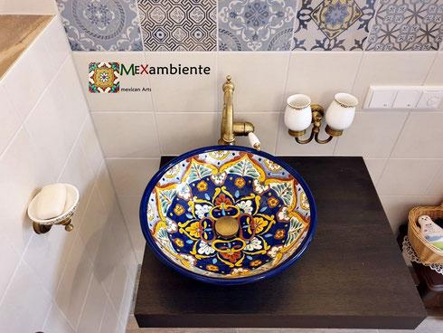 Mexambiente Aufsatzwaschbecken ACAPULCO