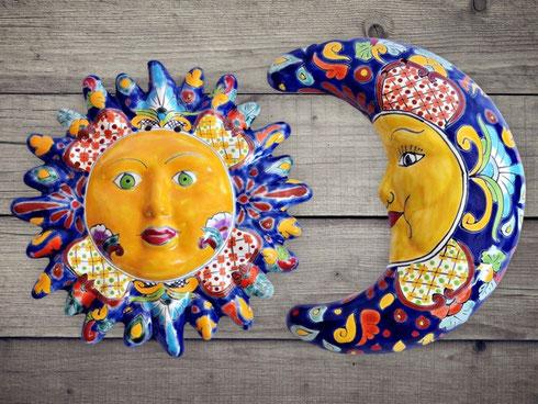 Mexiko Sonne und Mexiko Mond - Keramik