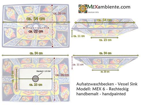 Mexambiente Waschbecken MEX 6