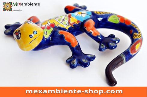 Mexiko gecko Eidechse Salamader bunt aus Keramik