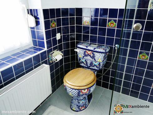 Mexikanische handbemalte WC Toilette