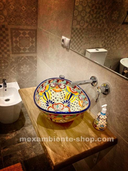 Mexikanisches Aufsatzwaschbecken BUNT