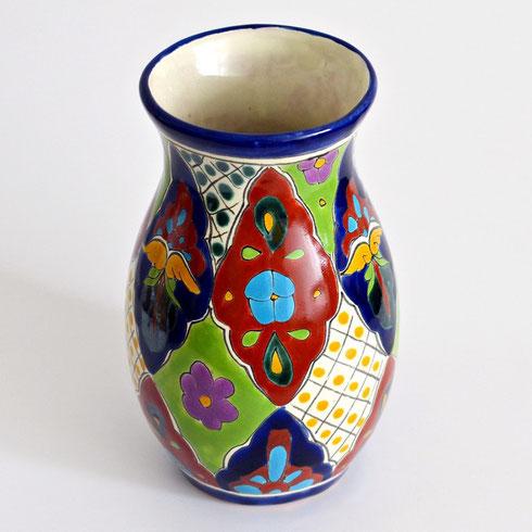 Schöne Vasen aus Mexiko, bunt bemalt!