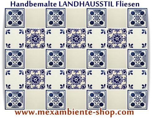 Mexikanische handbemalte Fliesen von Mexambiente