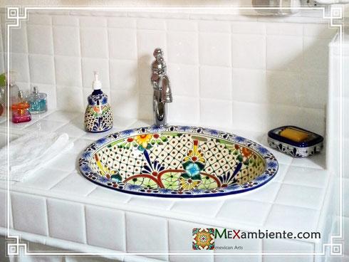 Mexikanisches Waschbecken von Mexambiente