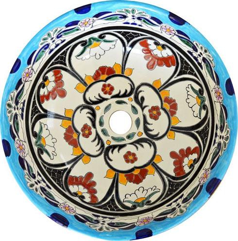 Kleurrijke mexicaanse wastafel mexambiente waschbecken fliesen aus mexiko - Wastafel originele ...
