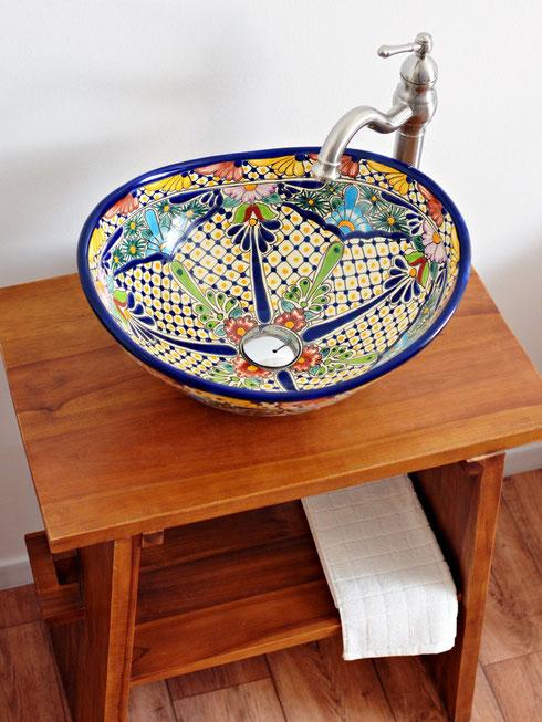 Mexambiente -  MEX 7 Aufsatzwaschbecken oval aus Mexiko