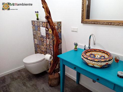 Mexikanische Fliesen Badezimmer