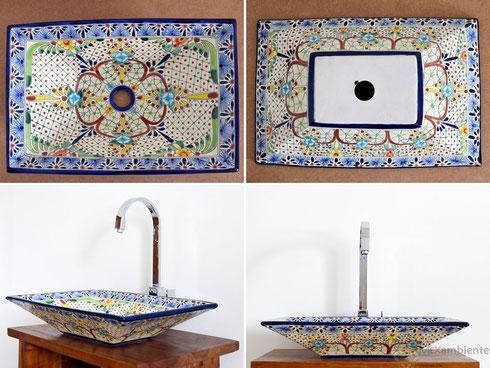 Mexikanische Waschbecken rechteckig MEX 6