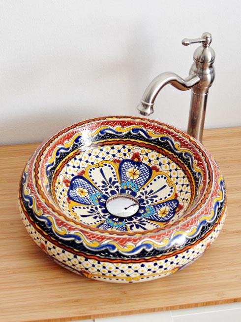 Mexikanisches Aufsatzwaschbecken