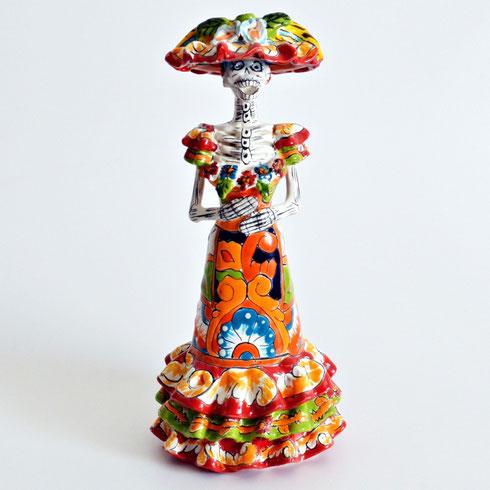 Catrina totenkopf mexambiente mexikanische waschbecken for Mexikanische dekoration