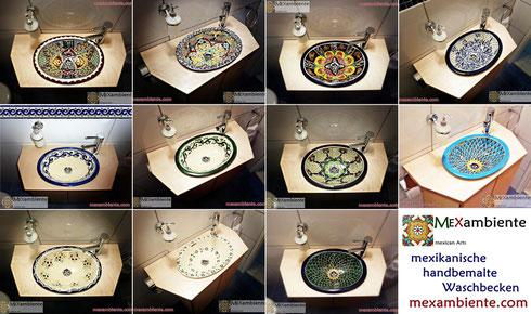 Mexambiente Waschbecken - Design-Ideen für ein kleines Bad, für Ihr Gäste-WC und für Badezimmer mit viel Platz.