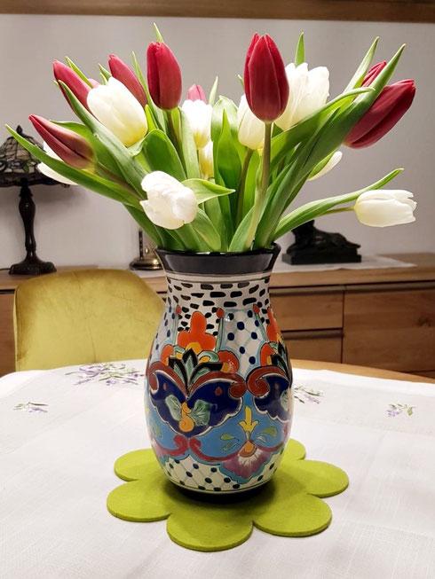 Bunte Mexikanische Vasen