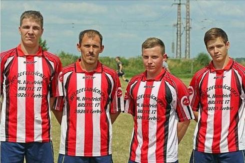 Patrick Hinz, Kevin Tinaglia, Marvin Albrecht, Jakob Neumann (von links)