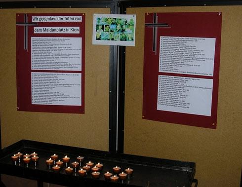Gedenktafel in der Kirche Mariä Himmelfahrt sowie den Kirchen des pastoralen Raumes Nied/Griesheim