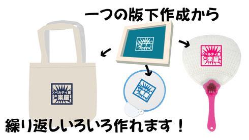 シルク印刷の版下は保管しますので再利用可能です