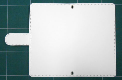 白無地汎用手帳型スマホケース画像