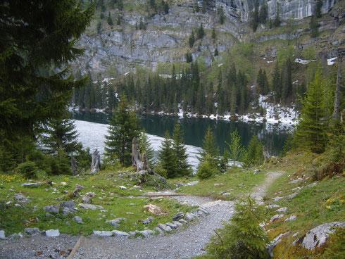 Der Hinterburgsee mit dem schönsten Echo der Schweiz