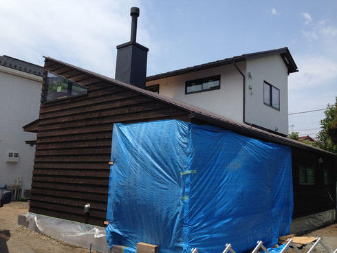 神奈川県茅ケ崎市薪ストーブのある家