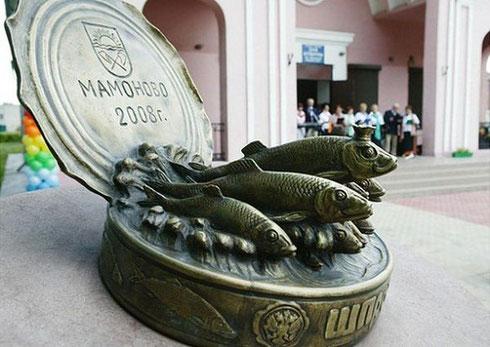 """Памятник """"шпротам Мамоново"""" в Калининградской области"""