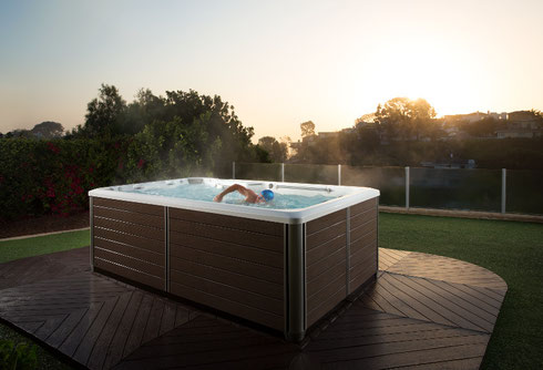 SwimSpa mit niedrigem Energieverbrauch spart Geld.