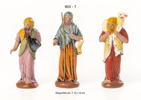 Pastores surtidos Figuras para Portales de Belén
