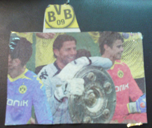 Weidenfeller + Langerek with german champs plate