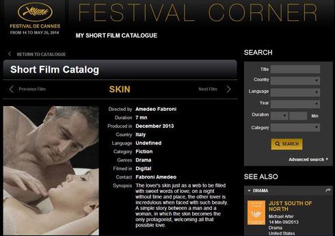 Dal catalogo dei cortometraggi ammessi al Festival di Cannes