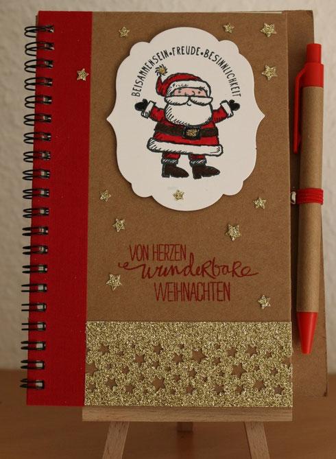 Notizbuch mit Weihnachtsmann
