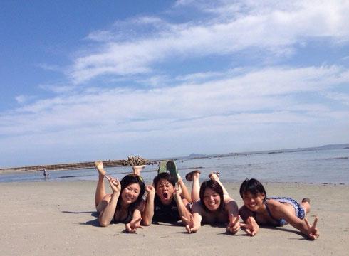 (右から)齊藤選手、安永選手、野木選手、重藤選手