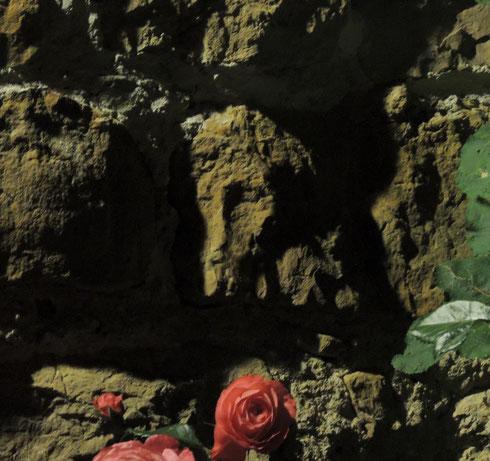 Il s'est manifesté sur une pierre de la maisonnette que nous occupions, lors d'une de nos dernières soirées...