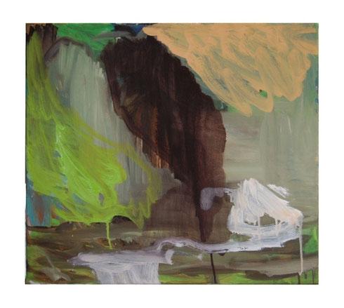 Rauch,  Öl- Lw, 45 x 50 cm, 2011