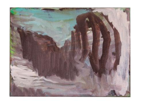 Mauer, Öl-Lw, 30 x 40 cm, 2011