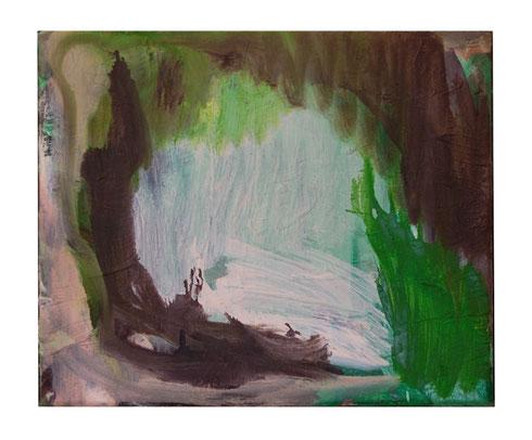 Lichtung, Öl- Lw, 25 x 30 cm, 2011