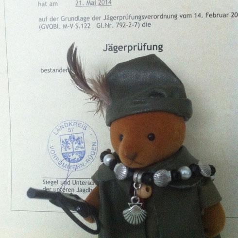 Jägerbär - mein treuer Lern- und Prüfungsgefährte.