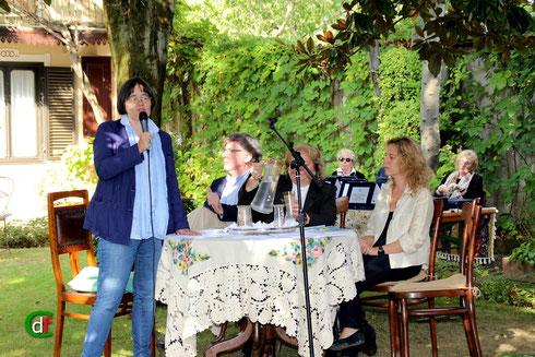 Lilita Conrieri presenta la giuria (foto Cesare Dellafiore)