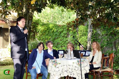 Il sindaco di Agliè e il tavolo della giuria (foto Cesare Dellafiore)