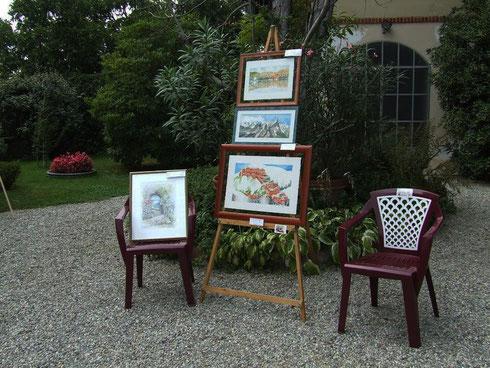 I dipinti di Angela Gallinatti esposti ad Agliè il 28/09/2013