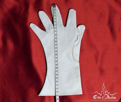 Fig. 37 - Mesure du gant.