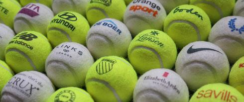 Tennisbälle bedrucken, Tennisbälle bedruckt, Tennisbälle mit Logo, Werbemittel Tennisbälle