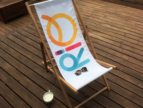Liegestühle Logo, Liegestuhl bedrucken, Liegestühle mit Logo, Liegestühle bedruckt, Liegestuhl bedruckt, Liegestuhl Messe, Liegestuhl Druck, Liegestühle Druck, Liegestuhl besticken