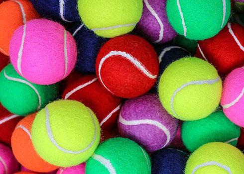 farbige Tennisbälle, Tennisbälle bedrucken, Bunte Tennisbälle, Tennisbälle mit Logo